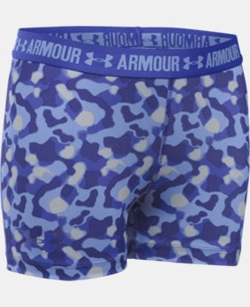 "Girls' UA HeatGear® Armour Printed 3"" Shorty LIMITED TIME: FREE U.S. SHIPPING 2 Colors $11.24 to $18.99"