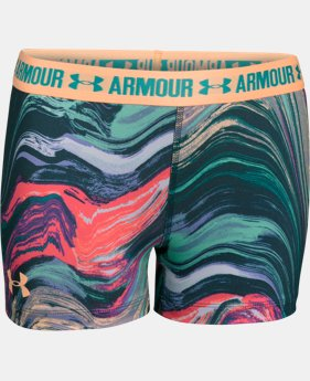 "Girls' UA HeatGear® Armour Printed 3"" Shorty   $13.99 to $17.49"