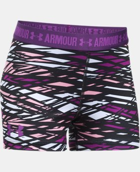"Girls' UA HeatGear® Armour Printed 3"" Shorty  1 Color $24.99"