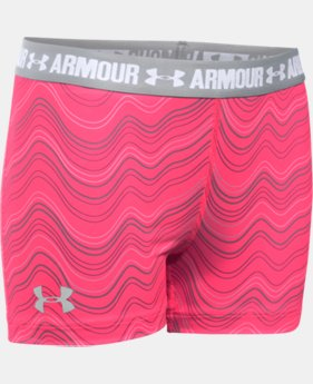 "Girls' UA HeatGear® Armour Printed 3"" Shorty"