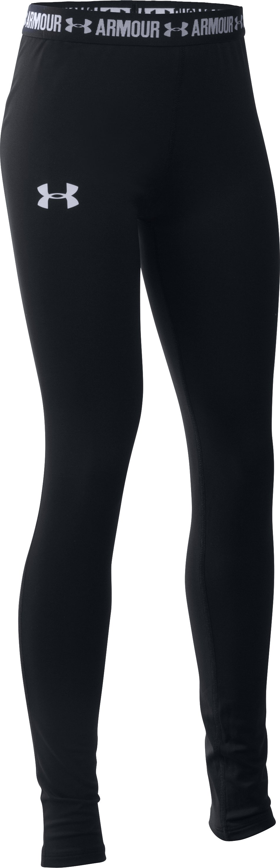 Girls' HeatGear® Armour Legging, Black , zoomed image