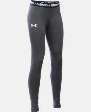 New Arrival  Girls' HeatGear® Armour Legging LIMITED TIME: FREE SHIPPING 2 Colors $39.99