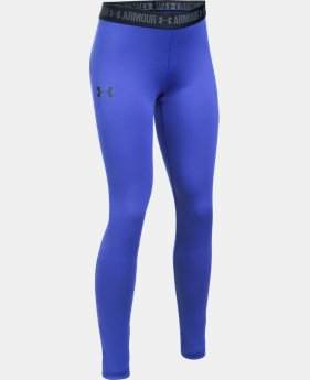 Girls' HeatGear® Armour Leggings  4 Colors $39.99