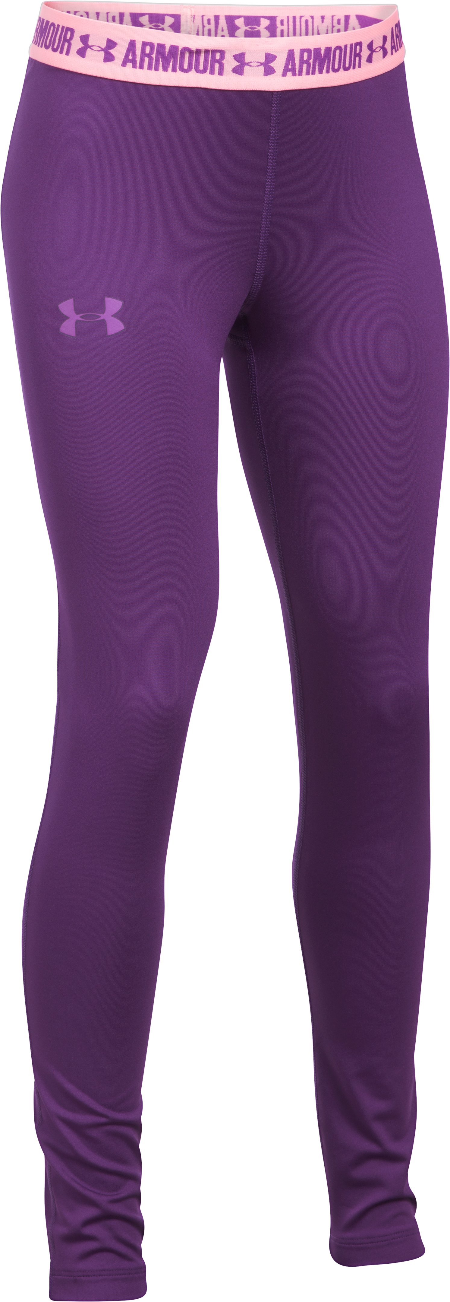 Girls' HeatGear® Armour Leggings, Indulge