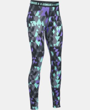 New Arrival  Girls' UA HeatGear® Armour Printed Legging   $44.99