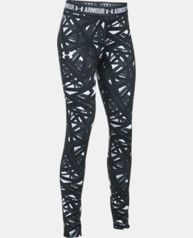 Girls' UA HeatGear® Armour Printed Leggings  1 Color $26.99