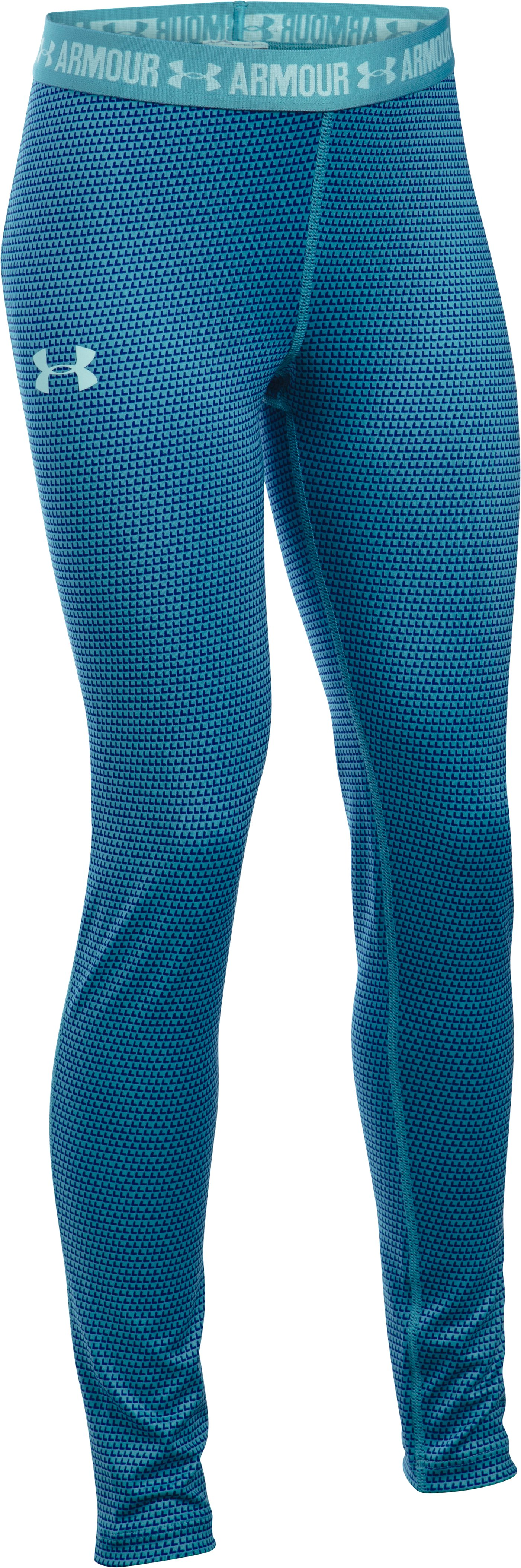 Girls' UA HeatGear® Armour Printed Legging, Cosmos, zoomed image