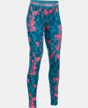 Girls' UA HeatGear® Armour Printed Leggings  1 Color $27.99 to $29.99
