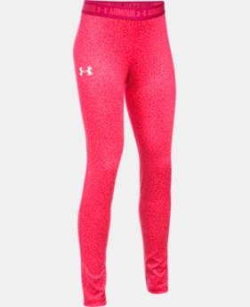Girls' UA HeatGear® Armour Printed Leggings  2 Colors $39.99