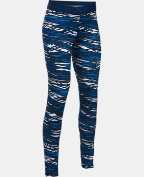 Girls' UA HeatGear® Armour Printed Leggings  1 Color $29.99 to $39.99