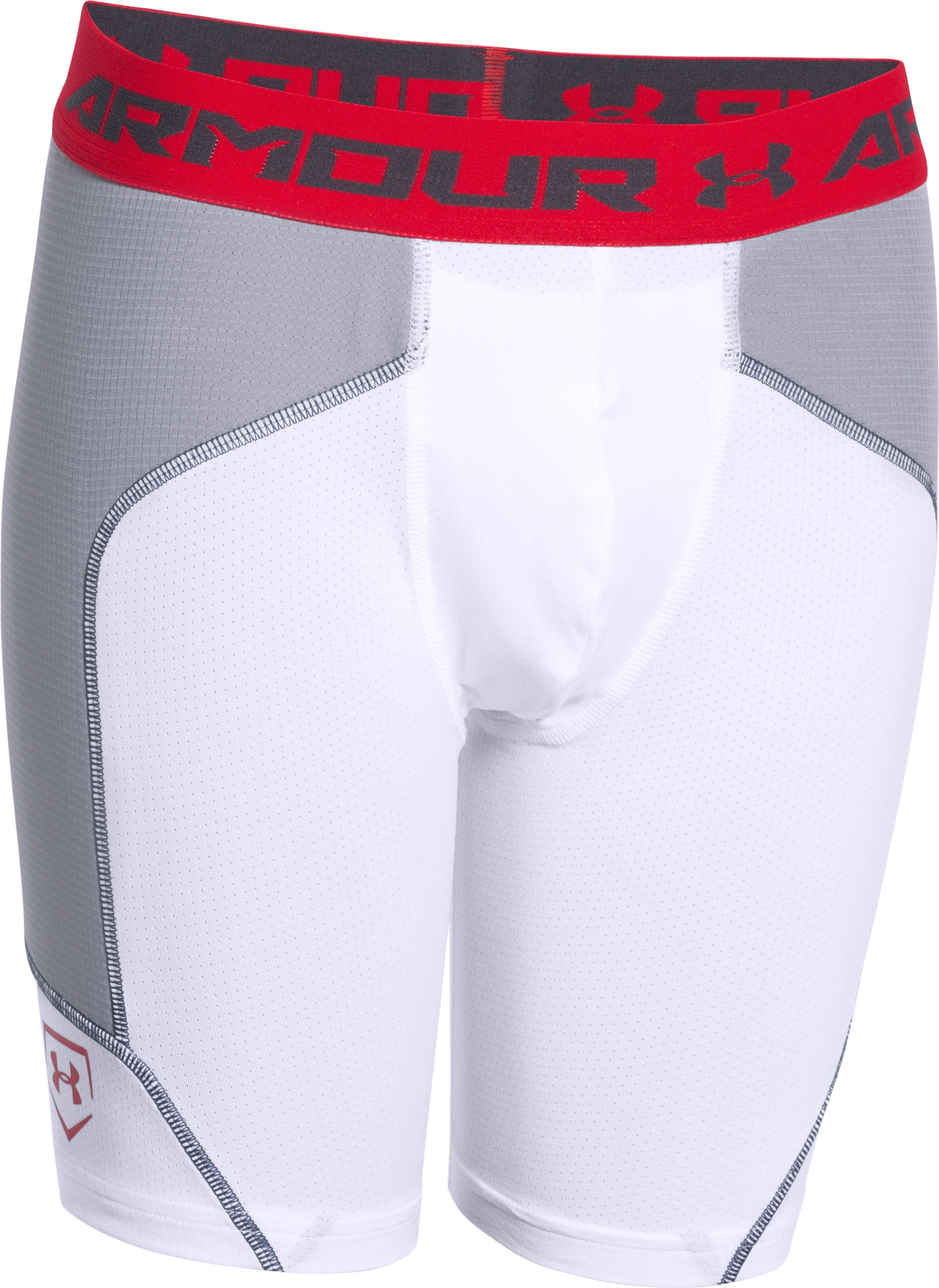 Boys' UA Spacer Slider, White, zoomed image