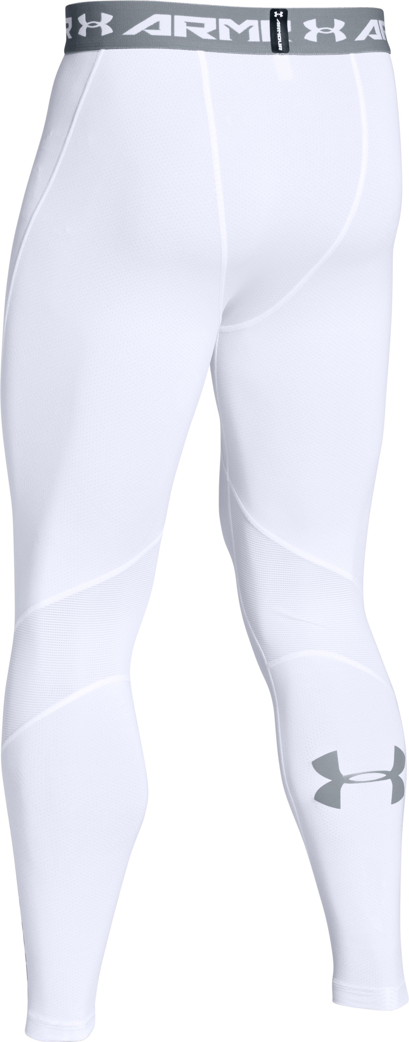 Men's UA CoolSwitch Compression Leggings, White