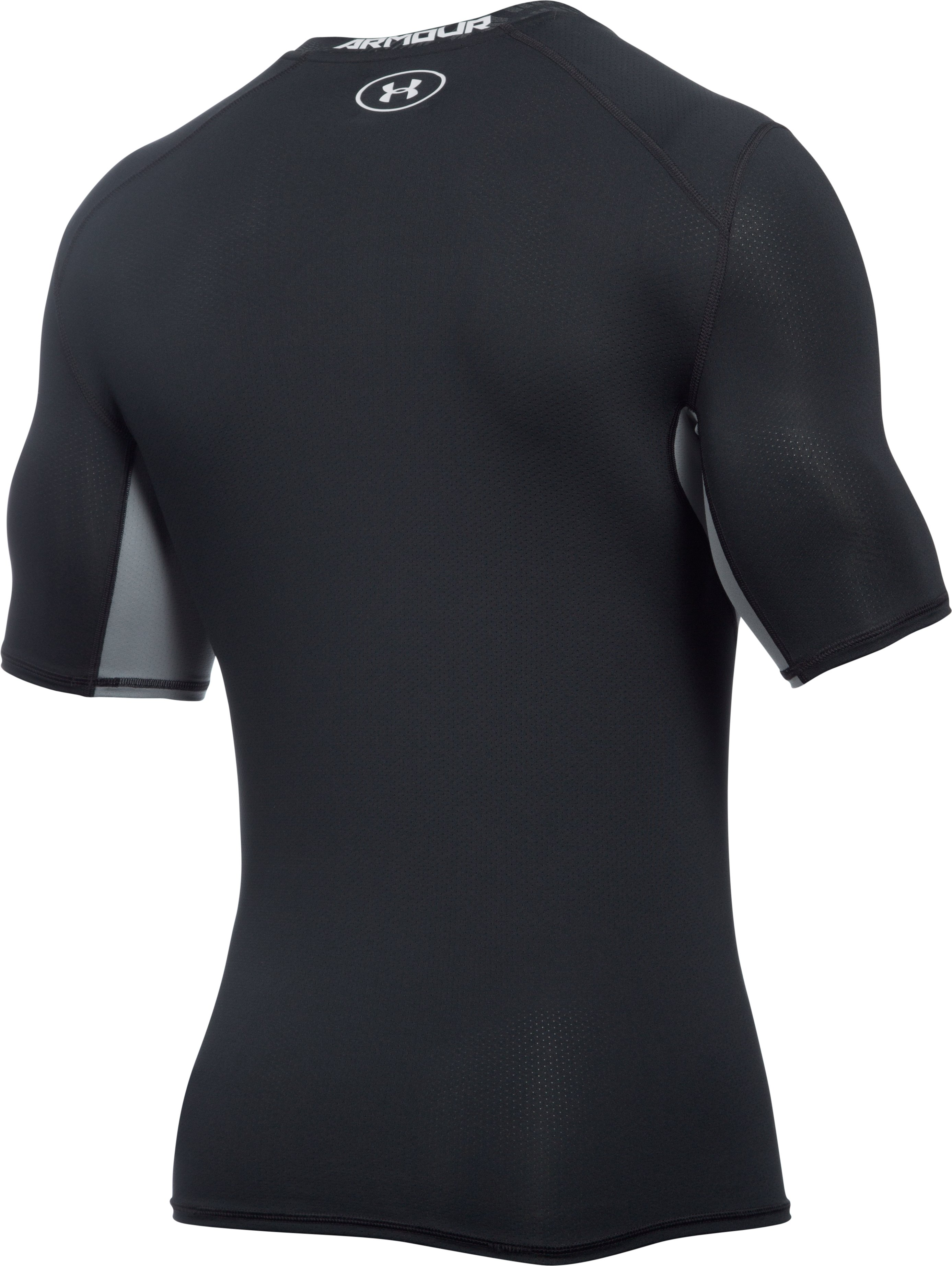 Men's UA CoolSwitch Short Sleeve Compression Shirt, Black ,