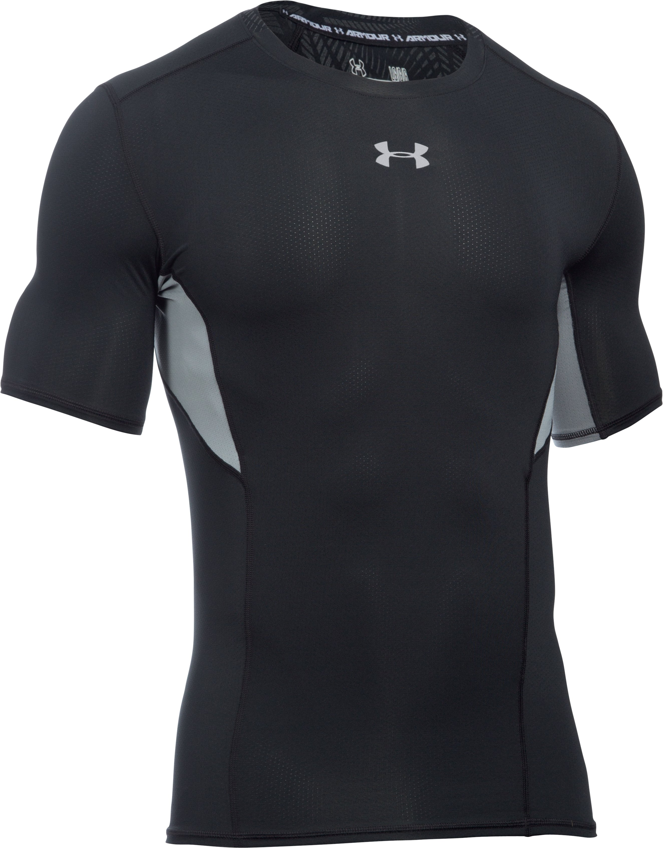 Men's UA CoolSwitch Short Sleeve Compression Shirt, Black , undefined