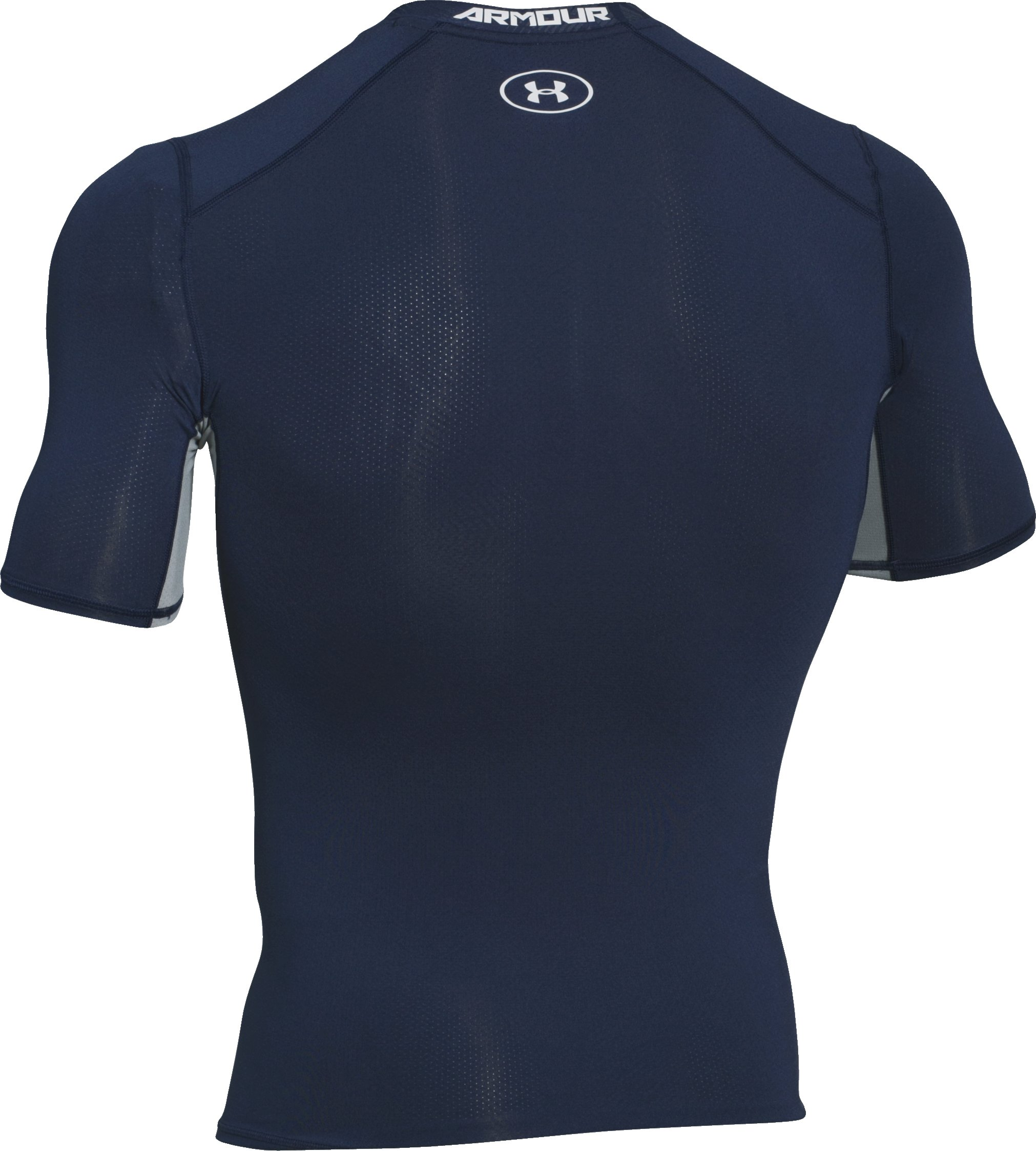 Men's UA CoolSwitch Short Sleeve Compression Shirt, Midnight Navy