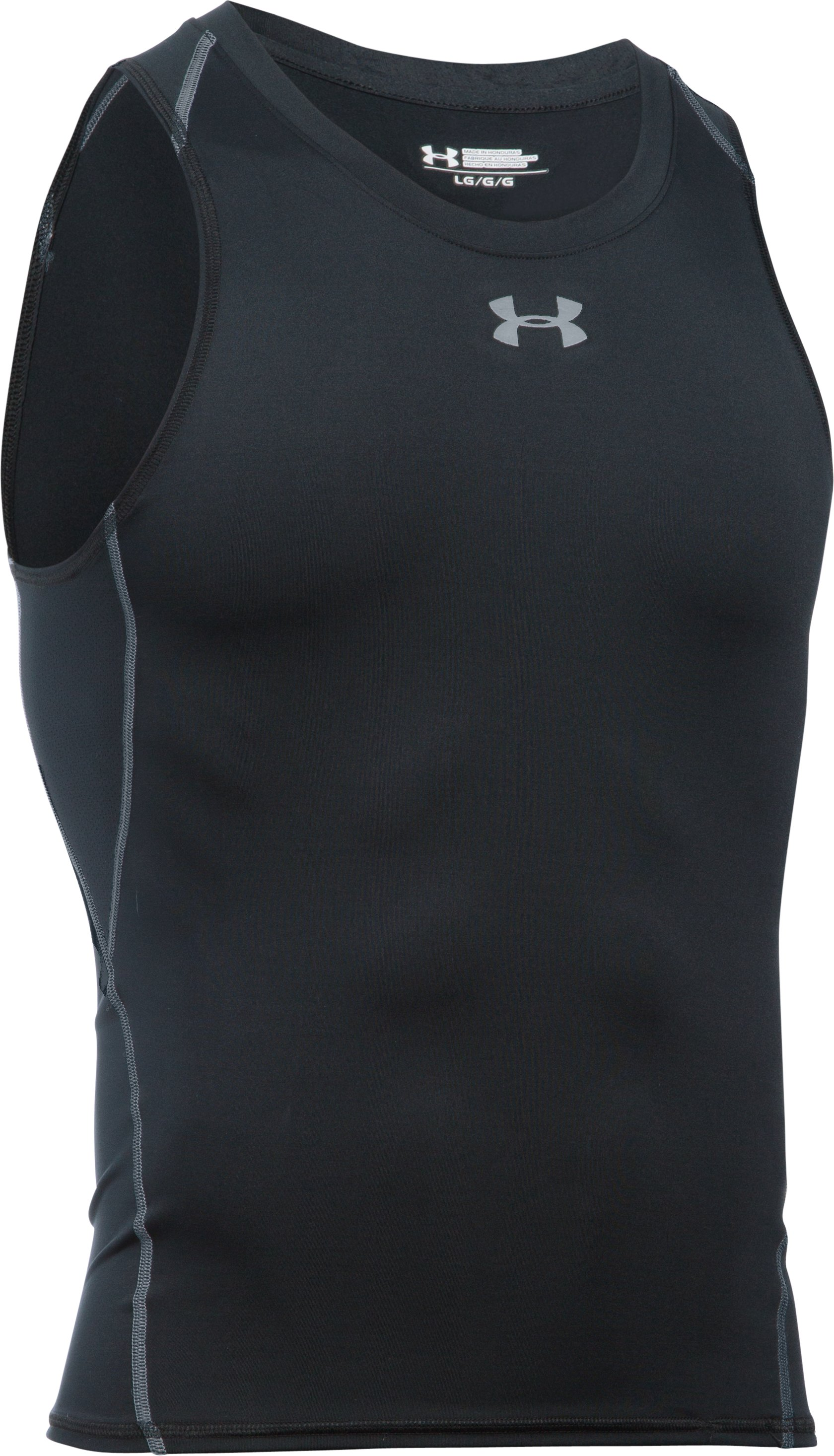 Men's UA HeatGear® Armour Compression Tank, Black , undefined