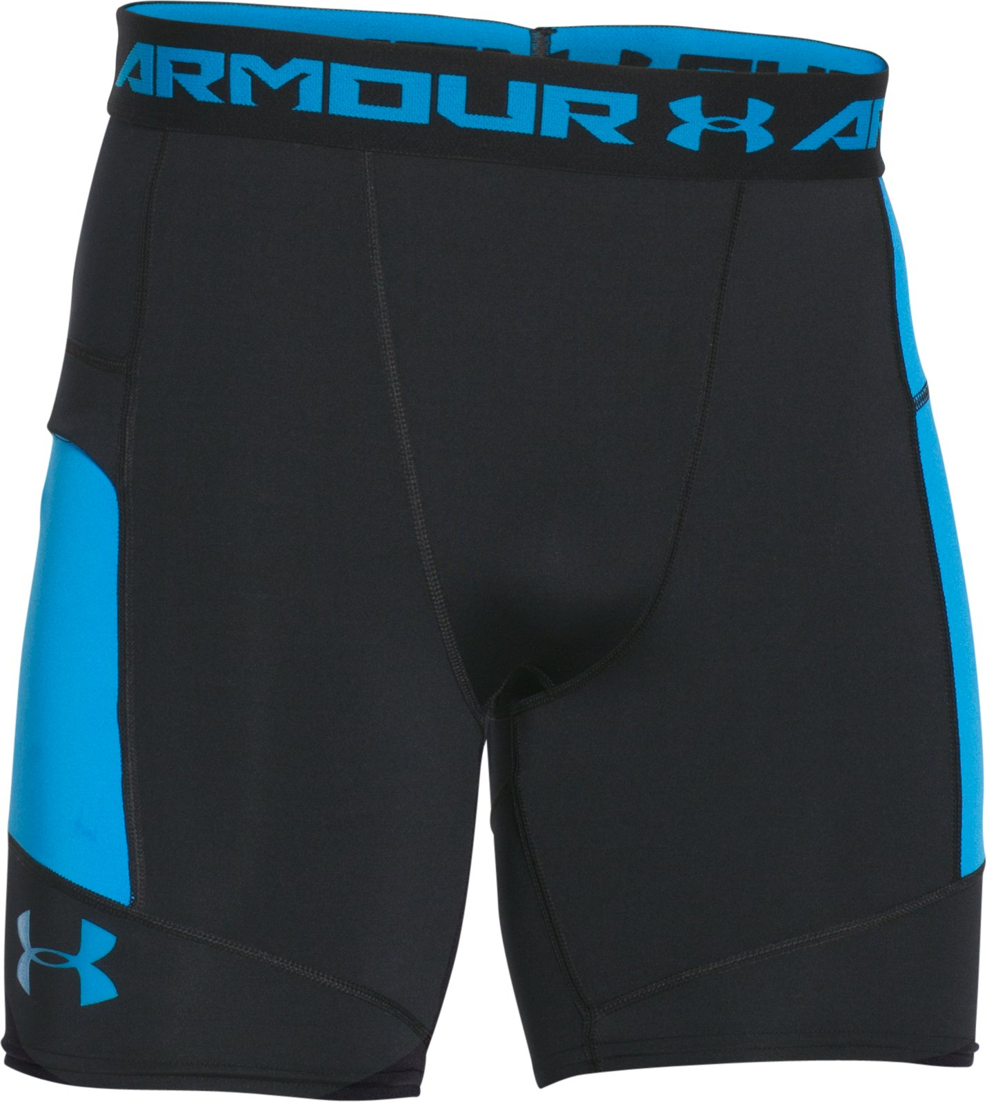 Men's UA HeatGear® Armour Pocketed Compression Shorts, Black , undefined