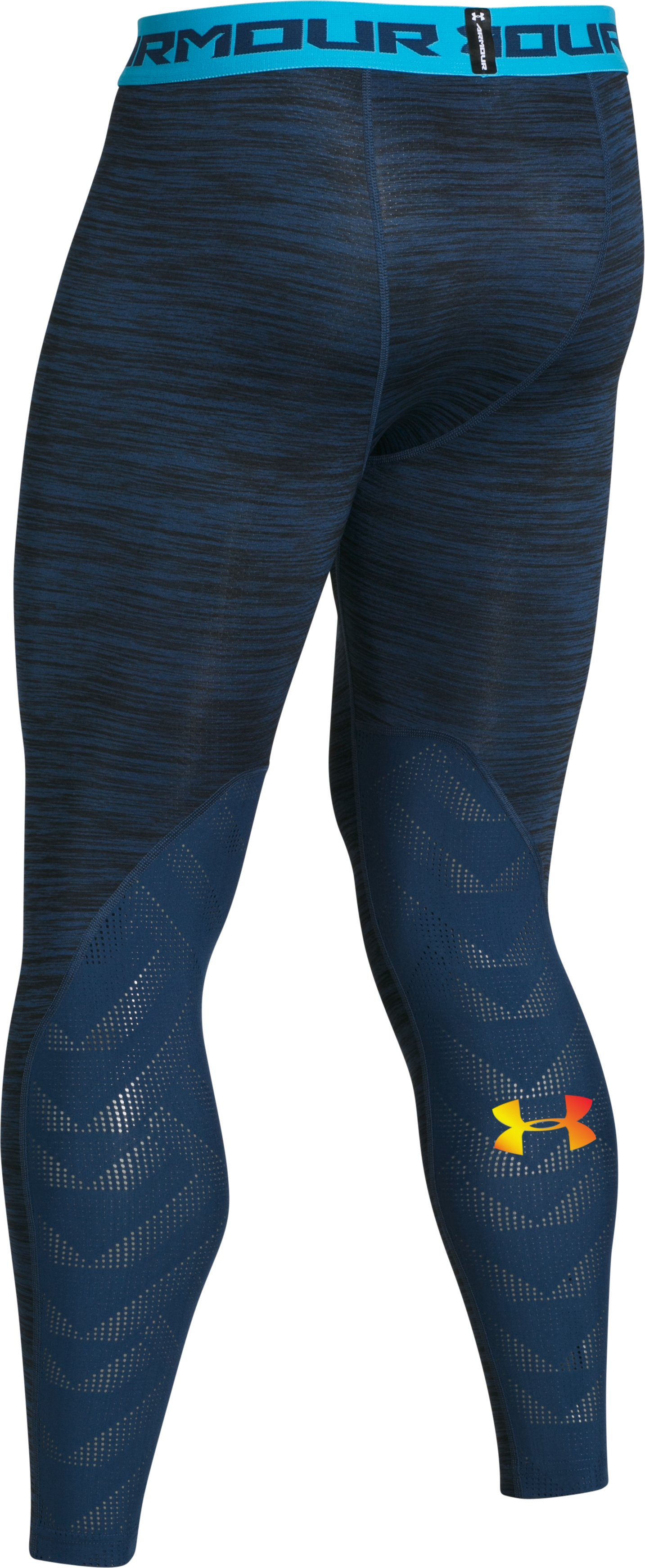 Men's UA Coolswitch ArmourVent™ Compression Leggings, BLACKOUT NAVY