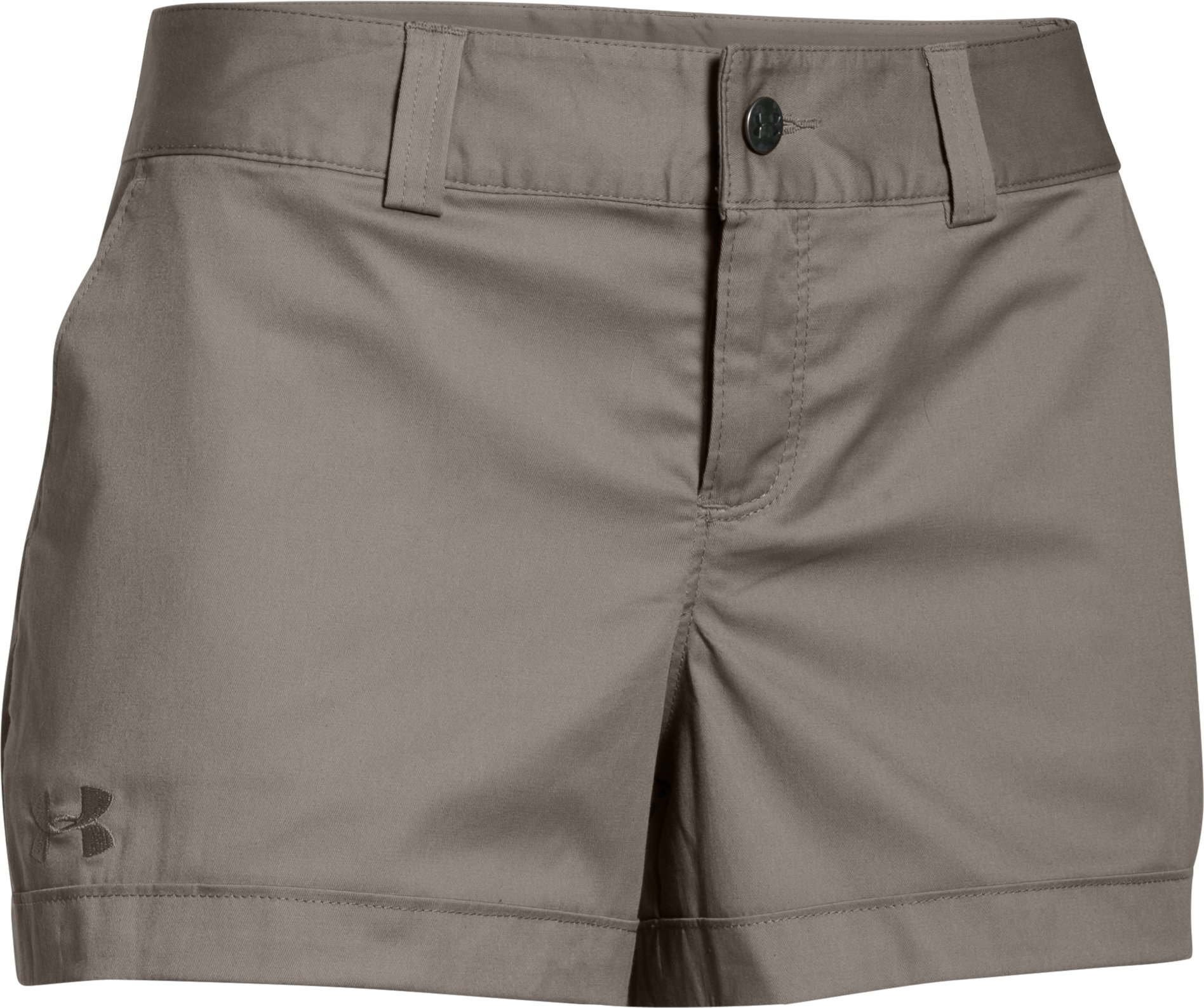 Women's UA 3.5 Inlet Shorts, STONELEIGH TAUPE,