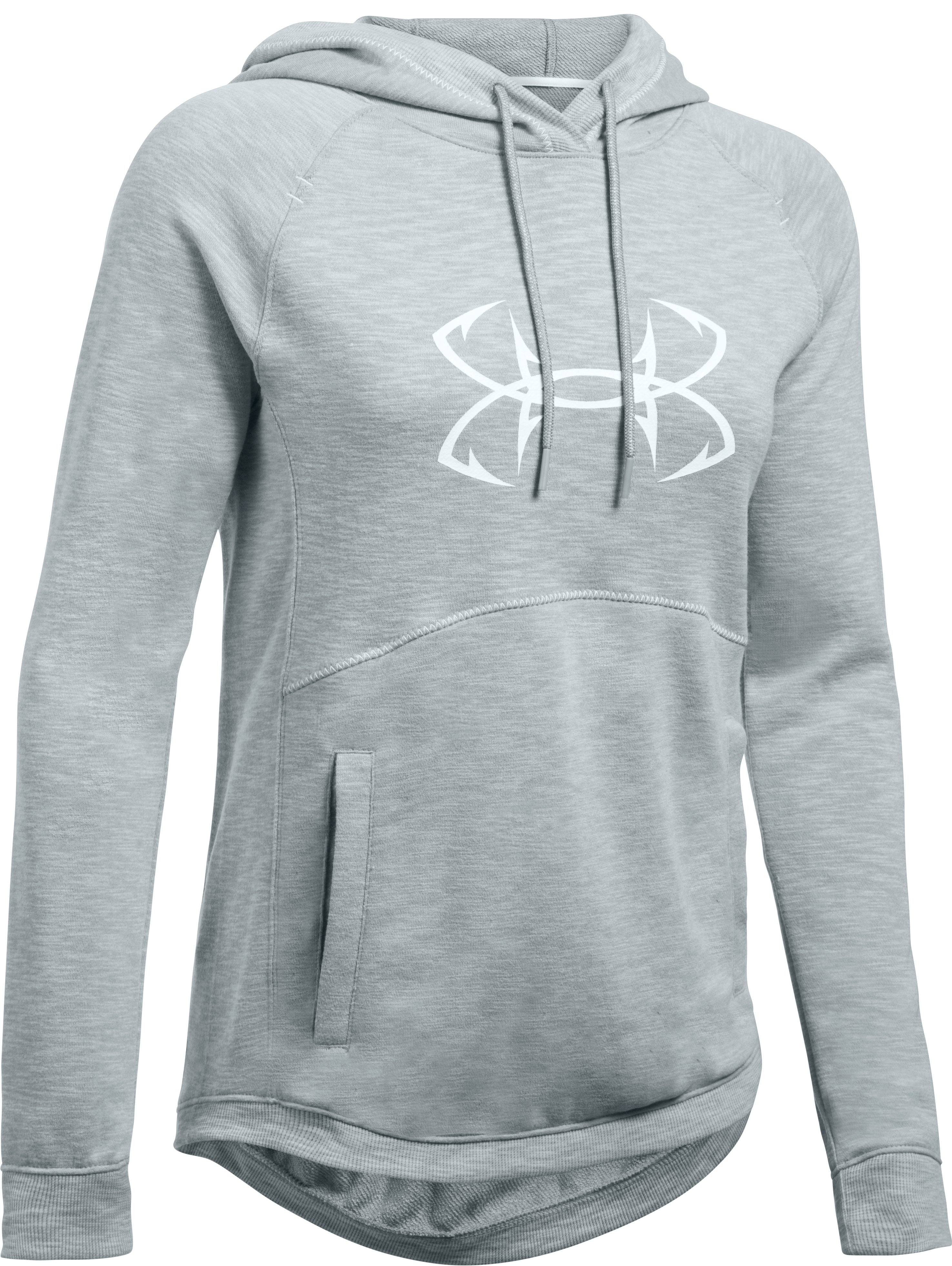 Women's UA Ocean Shoreline Terry Hoodie, True Gray Heather