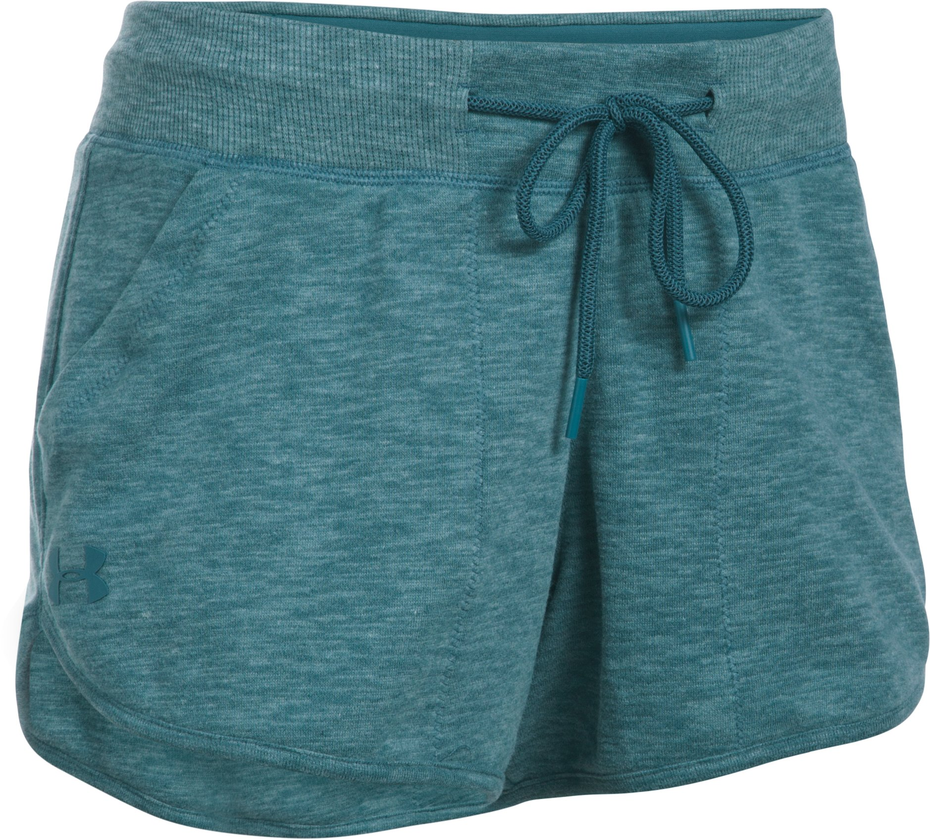 Women's UA Ocean Shoreline Terry Shorts, MARLIN BLUE,