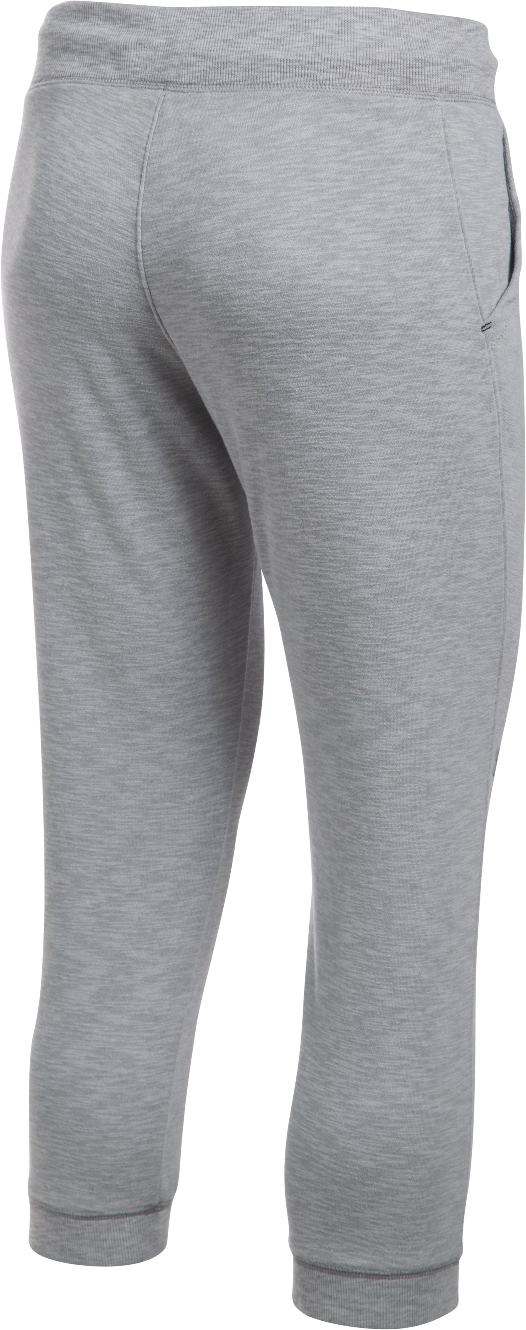 Women's UA Ocean Shoreline Terry Capris, True Gray Heather,