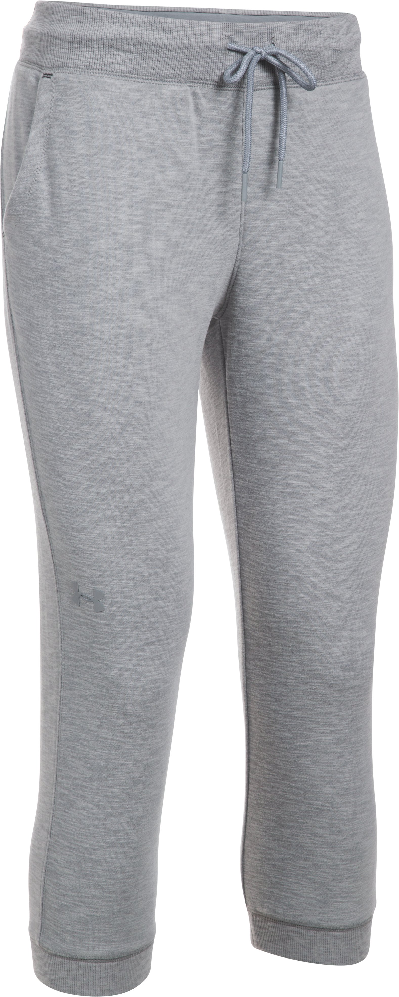 Women's UA Ocean Shoreline Terry Capris, True Gray Heather, undefined
