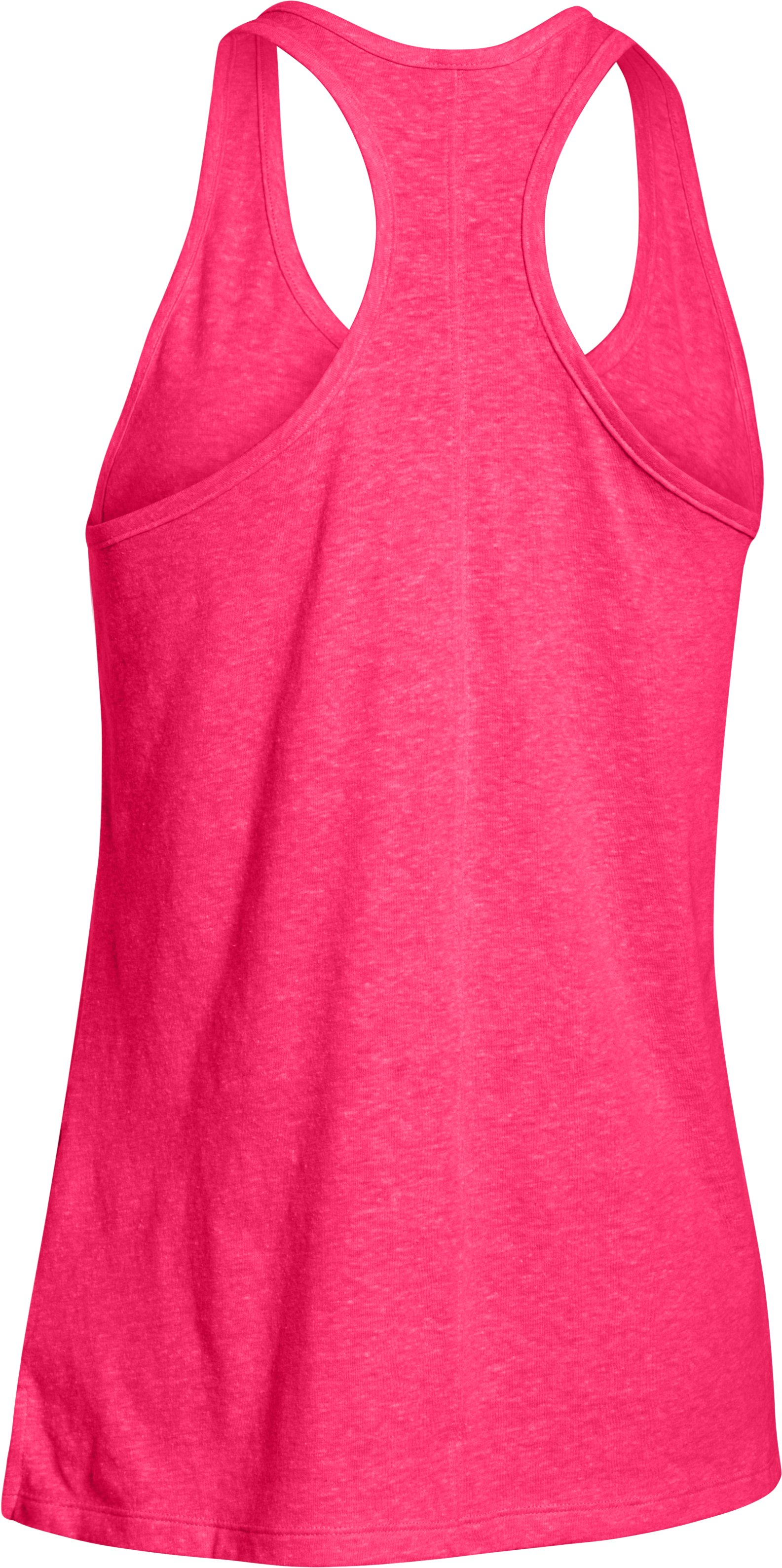 Women's UA Charged Cotton® Tri-Blend Tank, HARMONY RED,