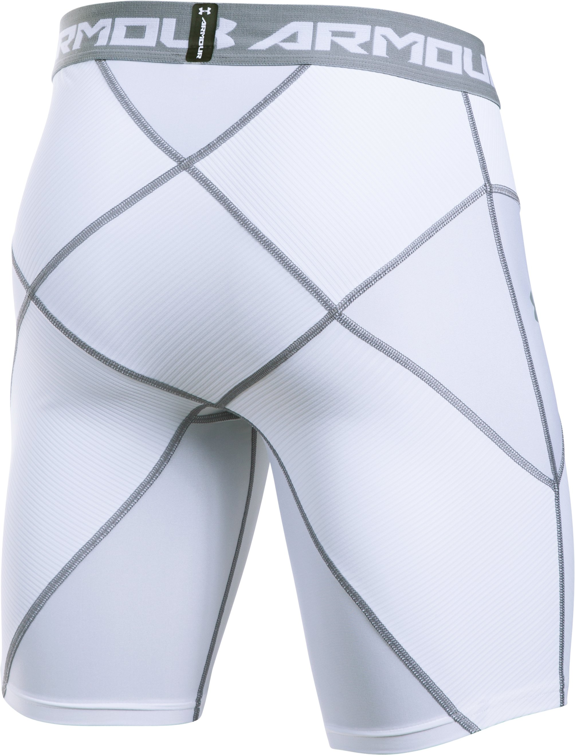 Men's UA HeatGear® Armour Compression Coreshorts, White, undefined
