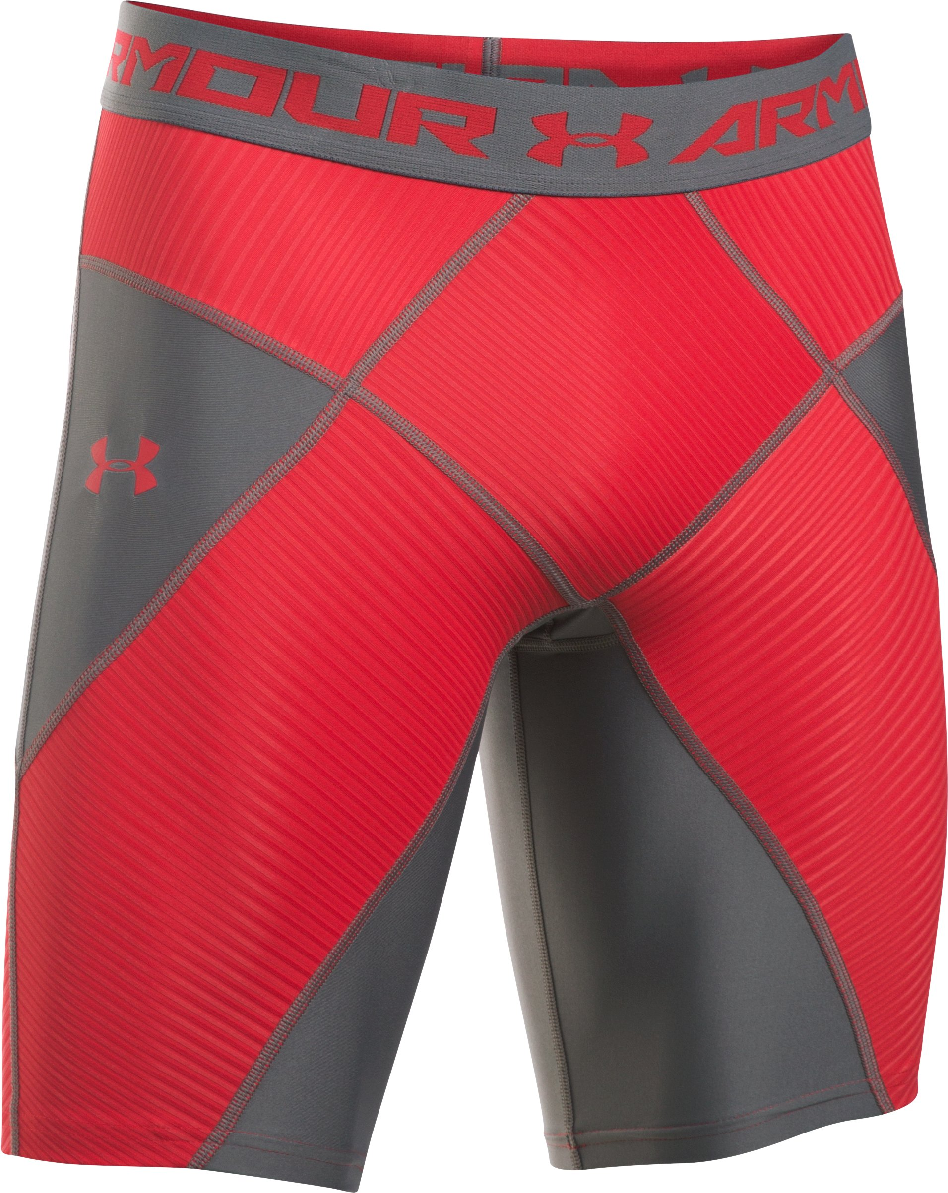 Men's UA HeatGear® Armour Compression Coreshorts, Red