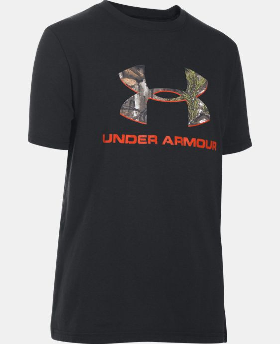 Boys' UA Camo Fill Big Logo Short Sleeve T-Shirt LIMITED TIME: FREE U.S. SHIPPING  $19.99