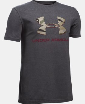 Boys' UA Camo Fill Logo T-Shirt LIMITED TIME: FREE SHIPPING 2 Colors $19.99