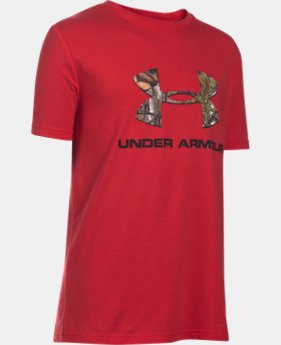 Boys' UA Camo Fill Logo T-Shirt  2 Colors $19.99