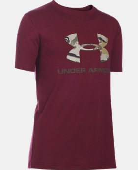 Boys' UA Camo Fill Big Logo Short Sleeve T-Shirt  4 Colors $25.99