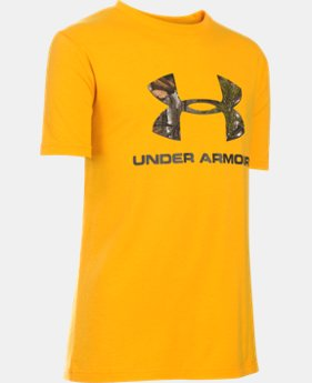 Boys' UA Camo Fill Logo T-Shirt  1 Color $25.99