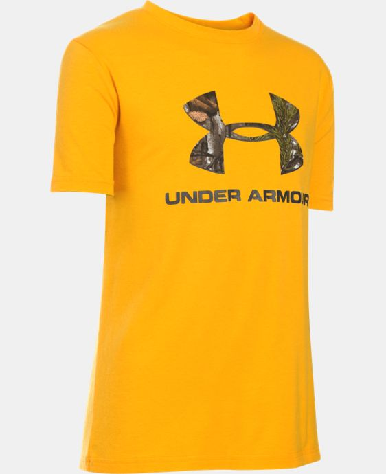 Boys' UA Camo Fill Big Logo Short Sleeve T-Shirt LIMITED TIME: FREE U.S. SHIPPING 1 Color $11.24 to $14.99