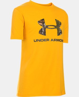 Boys' UA Camo Fill Logo T-Shirt   $19.99