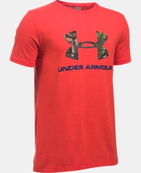 Boys' UA Camo Fill Big Logo Short Sleeve T-Shirt   $25.99