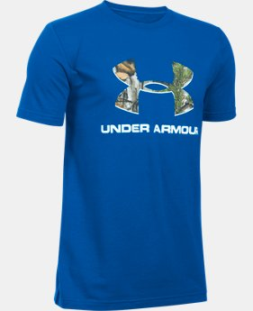 Boys' UA Camo Fill Big Logo Short Sleeve T-Shirt LIMITED TIME: FREE U.S. SHIPPING 1 Color $19.99