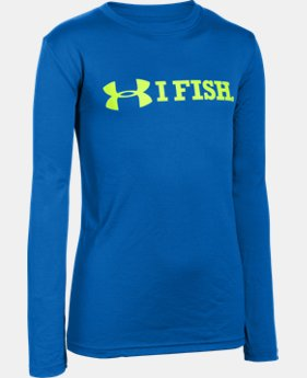 Boys' UA Fish Hook Long Sleeve T-Shirt LIMITED TIME: FREE SHIPPING 1 Color $26.99 to $34.99