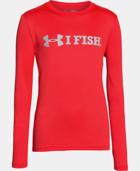 New Arrival  Boys' UA I Fish Long Sleeve T-Shirt LIMITED TIME: FREE SHIPPING 1 Color $34.99