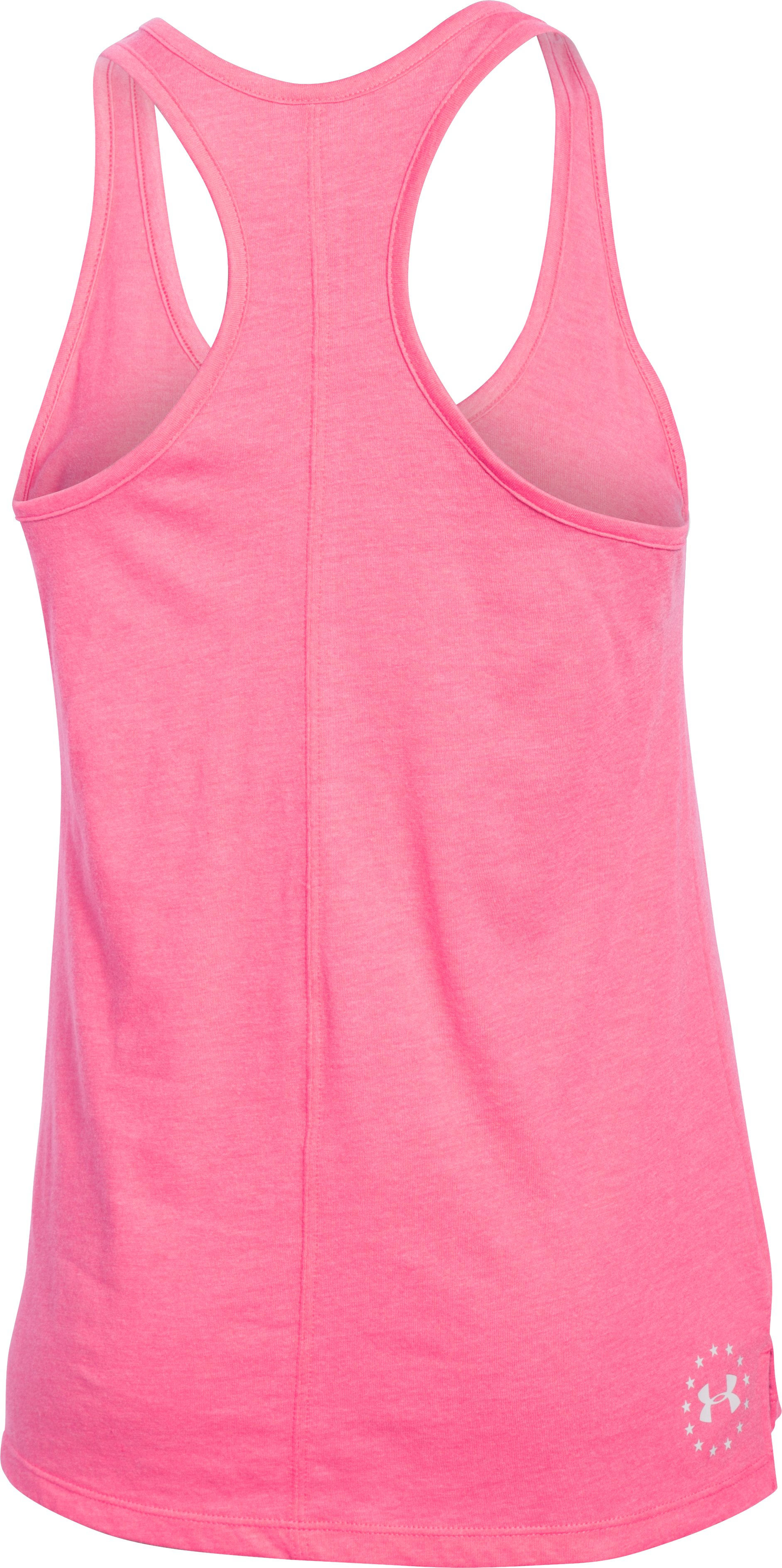 Women's UA Charged Cotton® Tri-Blend Freedom Tank, HARMONY RED