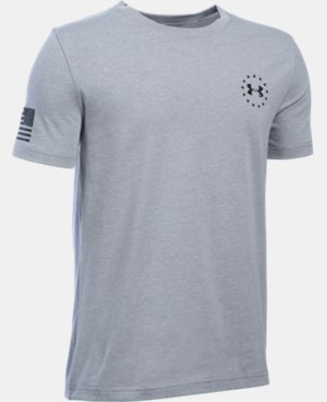 Boys' UA Freedom Flag T-Shirt LIMITED TIME: FREE U.S. SHIPPING 1 Color $19.99