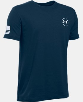 Boys' UA Freedom Flag T-Shirt LIMITED TIME: FREE SHIPPING 2 Colors $19.99