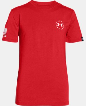 Boys' UA Freedom Flag T-Shirt LIMITED TIME: FREE U.S. SHIPPING 1 Color $14.99