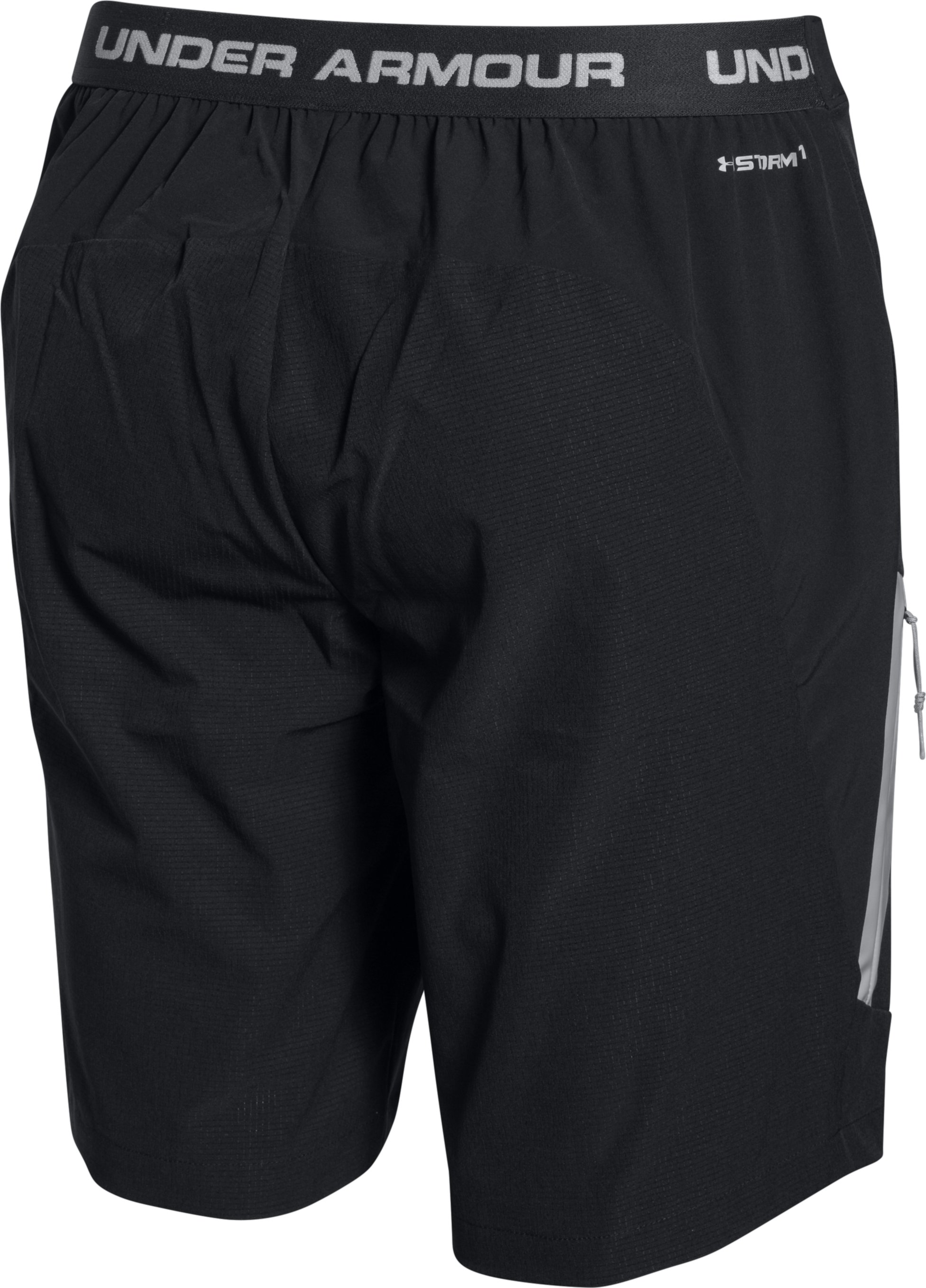 Men's UA ArmourVent™ Trail Shorts, Black ,