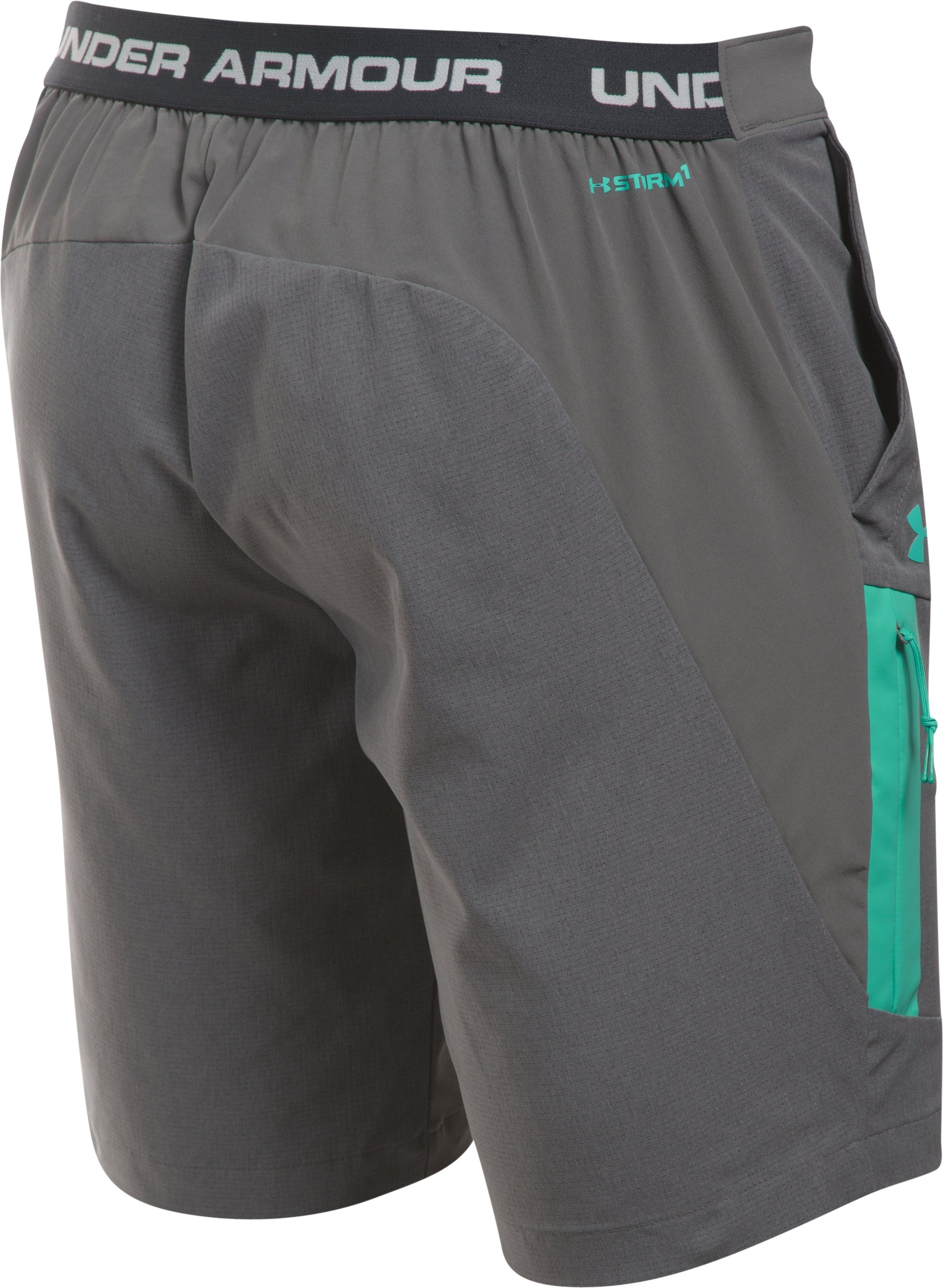 Men's UA ArmourVent™ Trail Shorts, GRANITE, undefined
