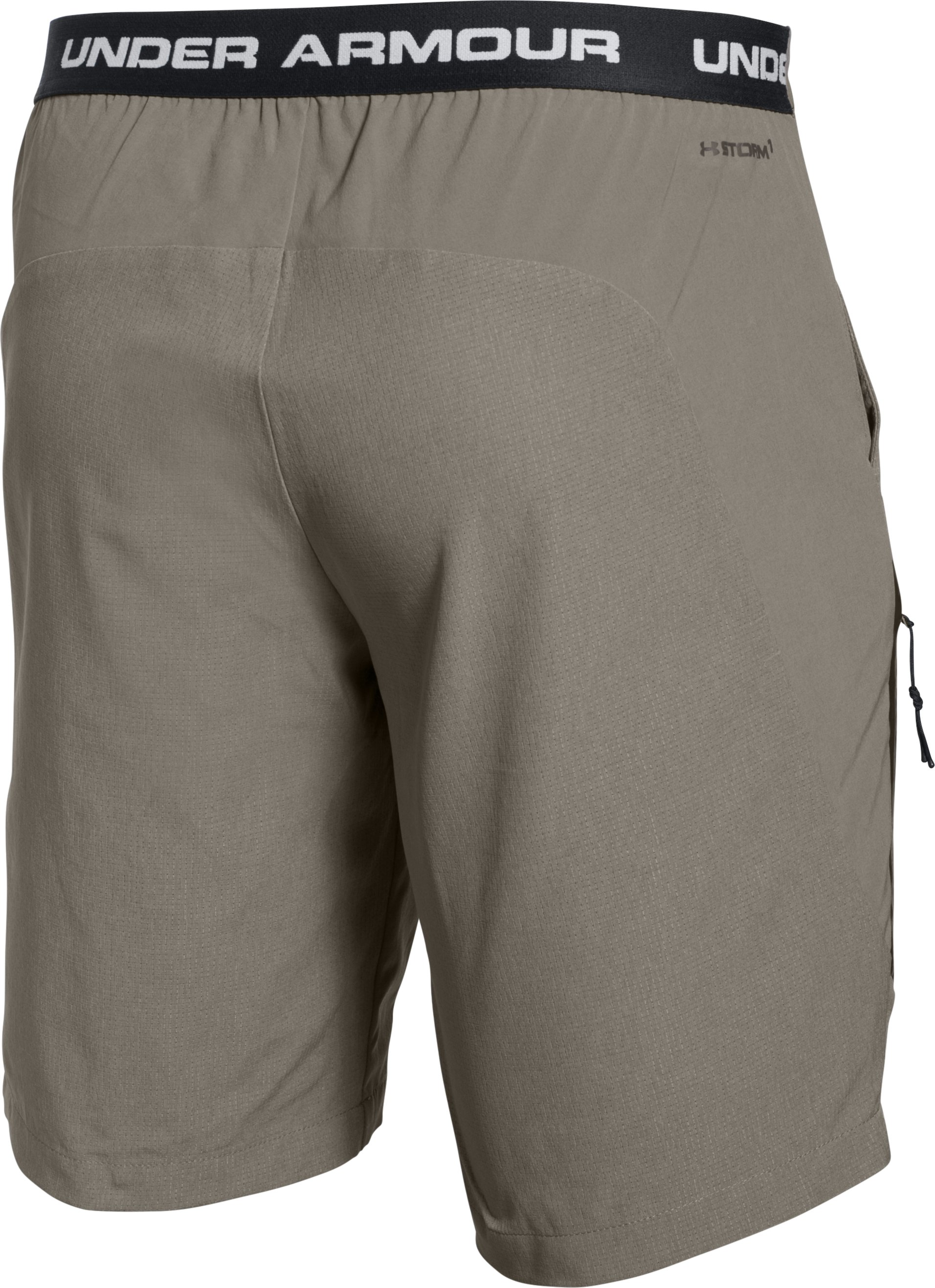 Men's UA ArmourVent™ Trail Shorts, STONELEIGH TAUPE