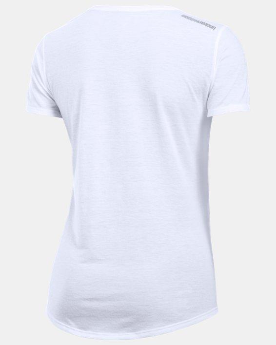 Women's UA Streaker Short Sleeve, White, pdpMainDesktop image number 4