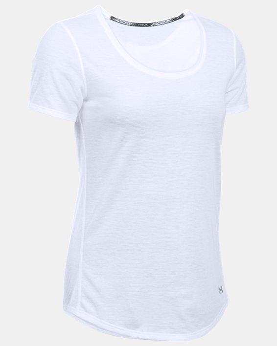 Women's UA Streaker Short Sleeve, White, pdpMainDesktop image number 3